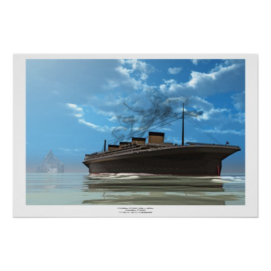 Titanic and Iceberg Poster