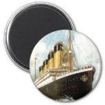 Titanic at Sea 2 Inch Round Magnet