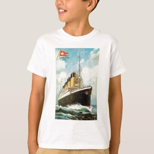 Titanic at Sea Kids T T_Shirt