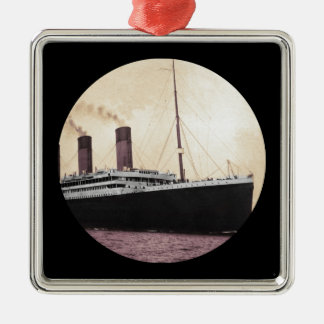 Titanic at Sea Metal Ornament