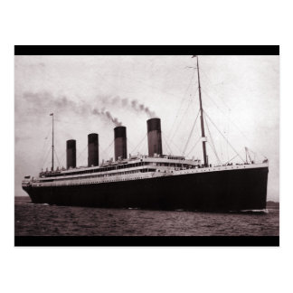 Titanic at Sea Postcard