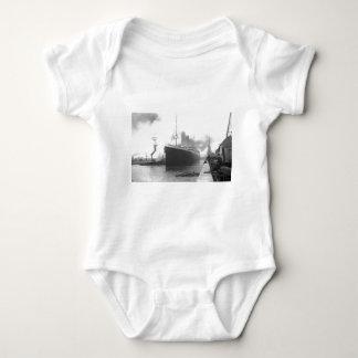 Titanic at the docks of Southampton Baby Bodysuit