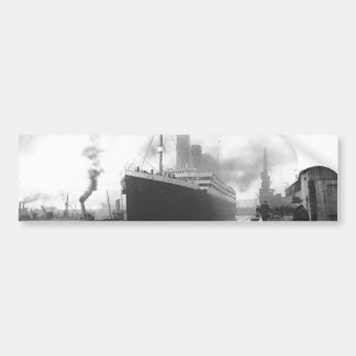 Titanic at the docks of Southampton Bumper Sticker