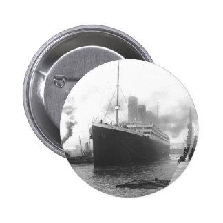 Titanic at the docks of Southampton Button
