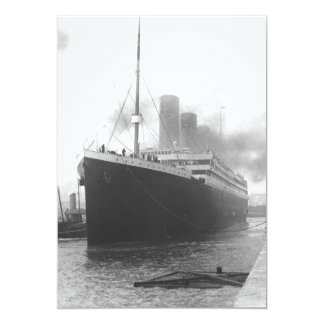 Titanic at the docks of Southampton 5x7 Paper Invitation Card