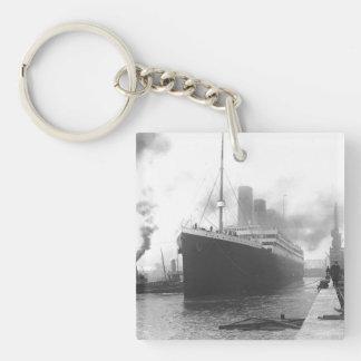 Titanic at the docks of Southampton Keychain