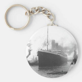 Titanic at the docks of Southampton Keychain