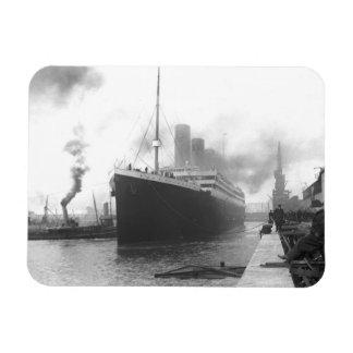 Titanic at the docks of Southampton Flexible Magnet