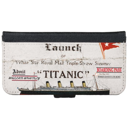 Titanic Boarding Pass Wallet Phone Case For IPhone 6 6s
