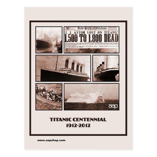 Titanic Centennial Memorial 1912-2012 Postcard