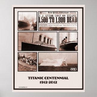 Titanic Centennial Memorial 1912-2012 Poster