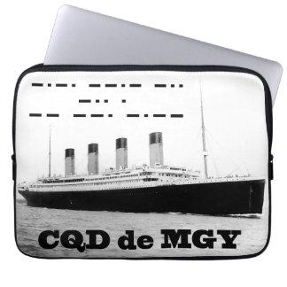 Titanic CQD de MGY Radio Distress Laptop Sleeve