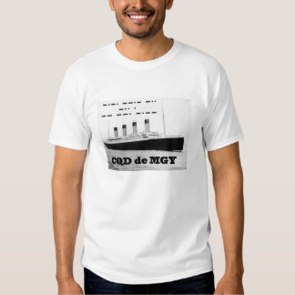 Titanic CQD de MGY Radio Distress Signal T-Shirt