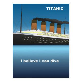titanic divine postcard