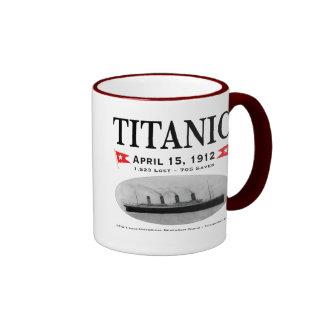 Titanic Ghost Ship Coffee Mugs, Steins, Drinkware Ringer Mug