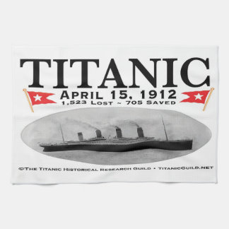 Titanic Ghost Ship Hand Towels