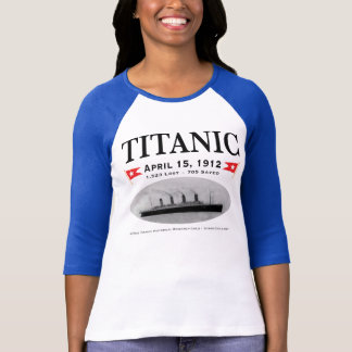 Titanic Ghost Ship Ladies 3/4 Sleeve Raglan Fitted T-Shirt