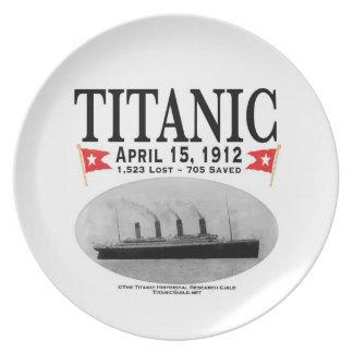 Titanic Ghost Ship Melamine Plate