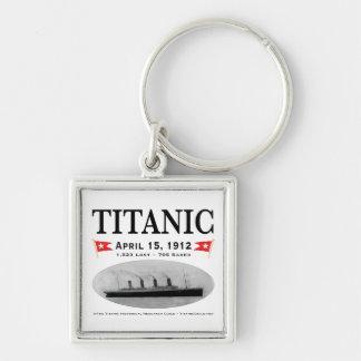 Titanic Ghost Ship Square Keychain