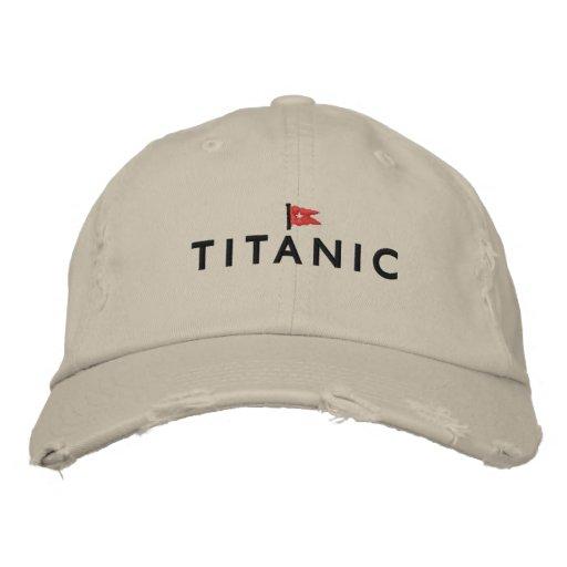 Titanic Hat with White Star Line Logo Baseball Cap