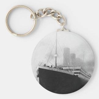Titanic in dock in Southampton Keychain