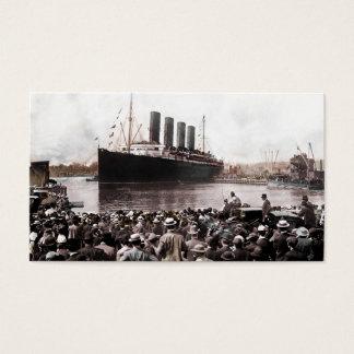 Titanic Leaving Southhampton Business Card