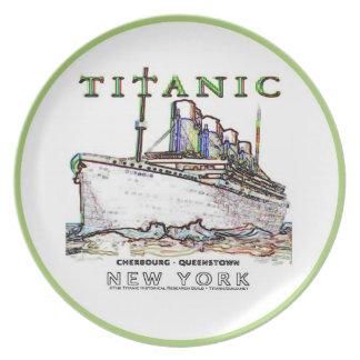 Titanic Neon (white): Kitchen: Plates: Neon Green Dinner Plate
