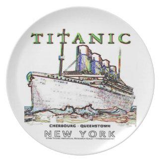 Titanic Neon (white) Plate