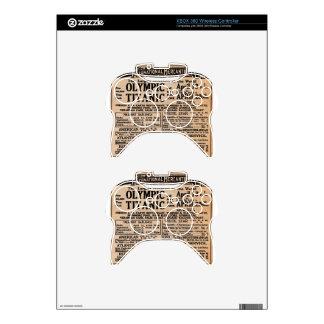 Titanic Newspaper Ad Xbox 360 Controller Skin
