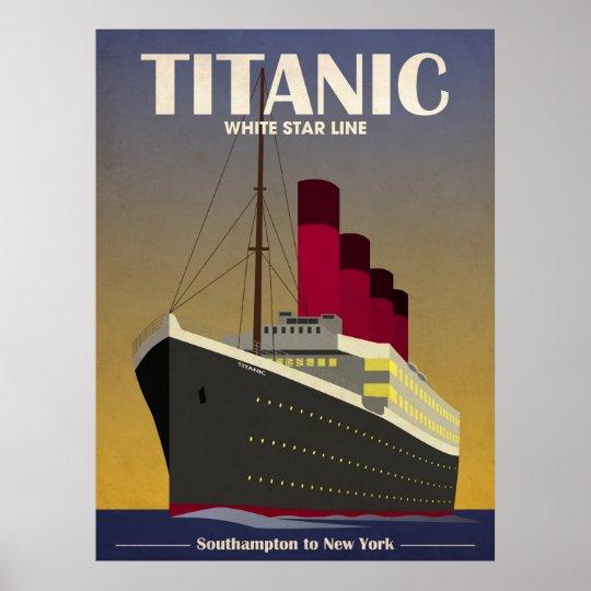 Titanic Ocean Liner Art Deco Print