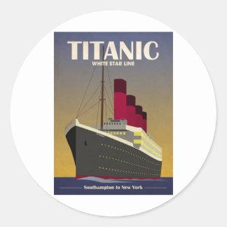 Titanic Ocean Liner Art Deco Print Classic Round Sticker