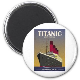 Titanic Ocean Liner Art Deco Print Magnet