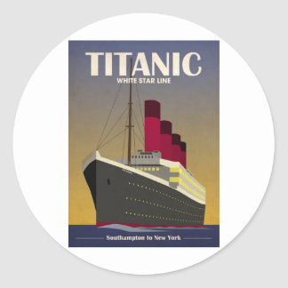 Titanic Ocean Liner Art Deco Print Sticker