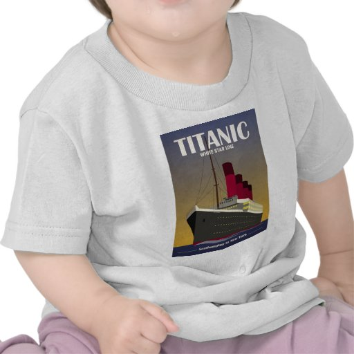 Titanic Ocean Liner Art Deco Print T-shirts