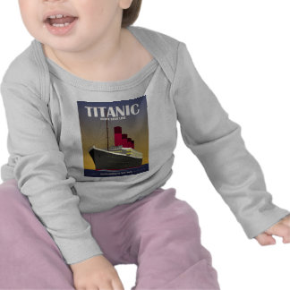 Titanic Ocean Liner Art Deco Print Shirt