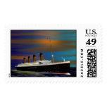TITANIC ON HER MAIDEN VOYAGE 10 APRIL 1912 POSTAGE STAMPS