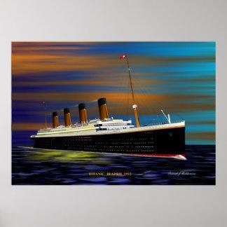TITANIC ON HER MAIDEN  VOYAGE 10 APRIL 1912 PRINT