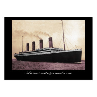 Titanic on Her Maiden Voyage Large Business Cards (Pack Of 100)