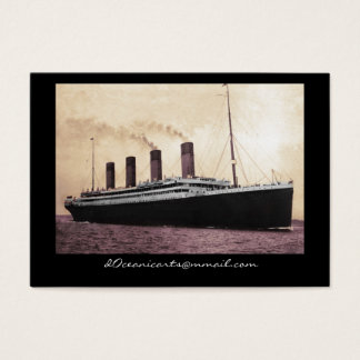 Titanic on Her Maiden Voyage Business Card
