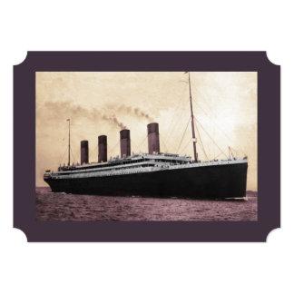 Titanic on Her Maiden Voyage Card