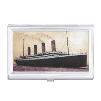 Titanic on Her Maiden Voyage Case For Business Cards