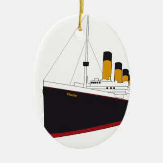 titanic original adorno navideño ovalado de cerámica