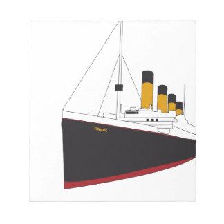 titanic original libreta para notas