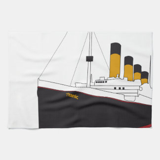 titanic original toalla de cocina