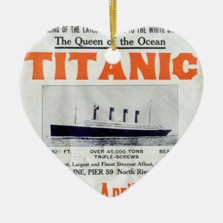 Titanic Queen Of The Ocean Poster Ceramic Ornament