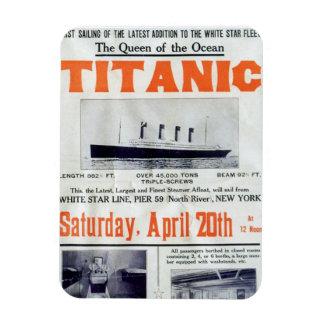Titanic Queen Of The Ocean Poster Magnet