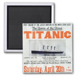 Titanic Queen Of The Ocean - White Star Line Magnet