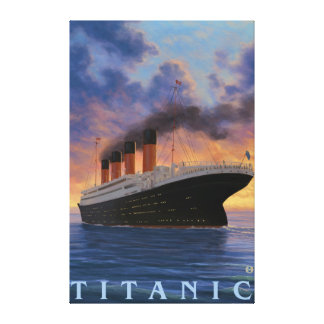 Titanic SceneWhite Star Line Canvas Print