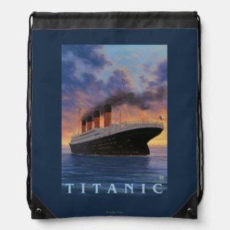 Titanic SceneWhite Star Line Drawstring Bag