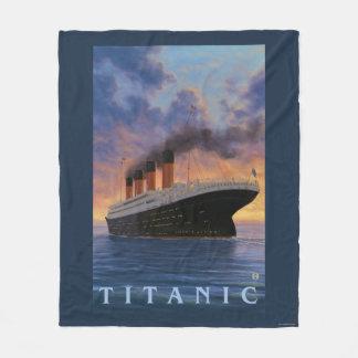 Titanic SceneWhite Star Line Fleece Blanket